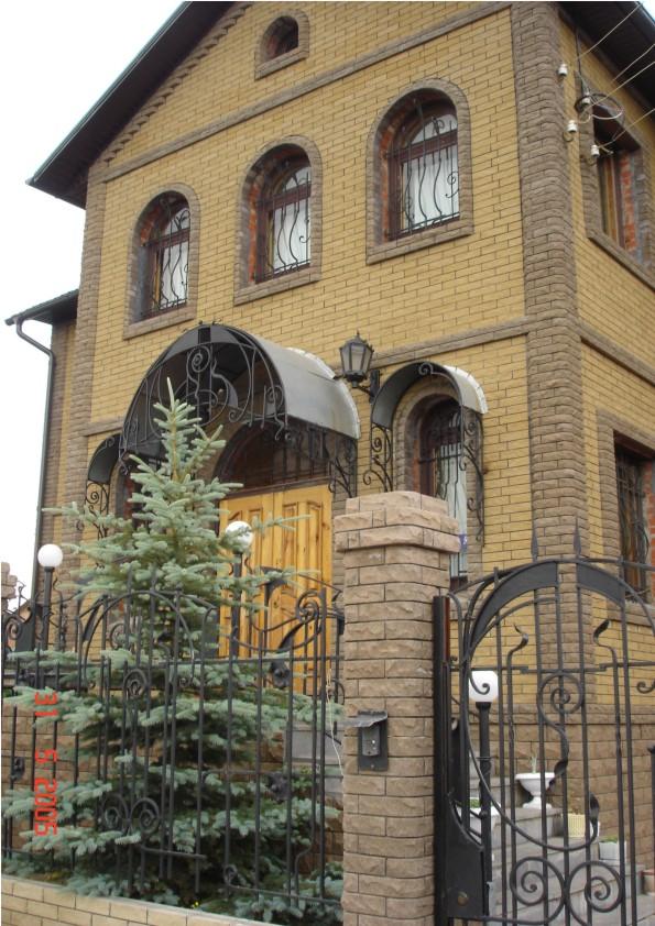 Фасады домов из фагота на фото
